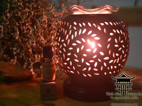 Đèn xông tinh dầu gốm PC2 tặng 10ml tinh dầu
