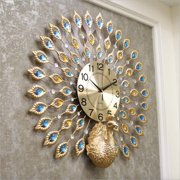 Đồng hồ trang trí  khổng tước KS846-V